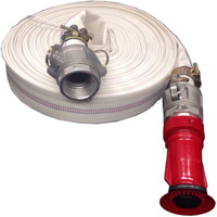 "GENUINE KASA 30m 1.5"" HIGH PRESSURE FIRE FIGHTING LAY FLAT WATER HOSE COUPLINGS"