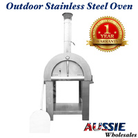 Heavy Duty Wood Fired Pizza Oven Portable Outdoor Cooking Camping BBQ on Wheels!
