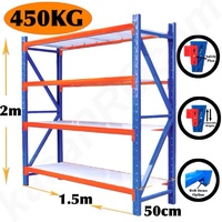 450KG GARAGE SHELVING WAREHOUSE RACKING STORAGE RACK FACTORY NEW!