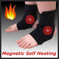 2 OFF TOURMALINE Self Heating thermal MAGNETIC ANKLE SUPPORT WRAP BRACE Velcro !