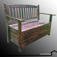 OUTDOOR BENCH WITH STORAGE COMPARTMENT!