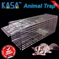 LIVE HUMANE ANIMAL TRAP POSSUM RAT FERAL CAT RABBIT HARE CATCHER FOLDING CAGE