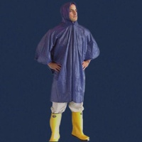 DARK BLUE EMERGENCY RAIN PONCHO WATERPROOF RAIN CAPE ONE SIZE FITS ALL REUSABLE!