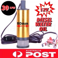 ALUMINIUM 12V DC SUBMERSIBLE TRANSFER DIESEL OIL SOLAR PUMP 44 GALLON DRUM PUMP
