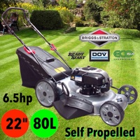 "NEW 22"" 6.5HP B&S BRIGGS N STRATTON SELF PROPELLED LAWN MOWER ENGINE LAWNMOWER"