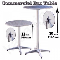 Commercial Aluminium High Bar Table Outdoor Cafe Pub Bar