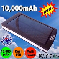 10000mAh SOLAR PORTABLE EXTERNAL CHARGER POWER BANK MOBILE PHONE TABLET DUAL USB