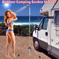 GARDEN CAMPING SHOWER ADJUSTABLE FLOW ADJUSTABLE HEIGHT