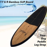 2017 PRO Series 11'6 SUP Stand Up Paddle Board Light Weight Epoxy / Fibreglass / Bamboo Design