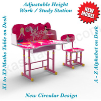 Adjustable Height Girls Kids Desk /Chair Study Work Station