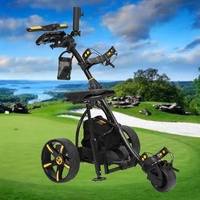 3 Wheel Digital Electric Golf Buggy Non Remote Trolley 36 Holes Power Caddy NEW