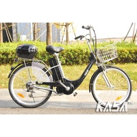 City Bicycle Electric Bike 250w Brushless Motor With Pas Road Legal Throttle  Black