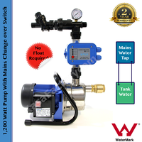 Fully Auto Stainless Steel 1,200 Watt Pump with Mains Change Over Switch