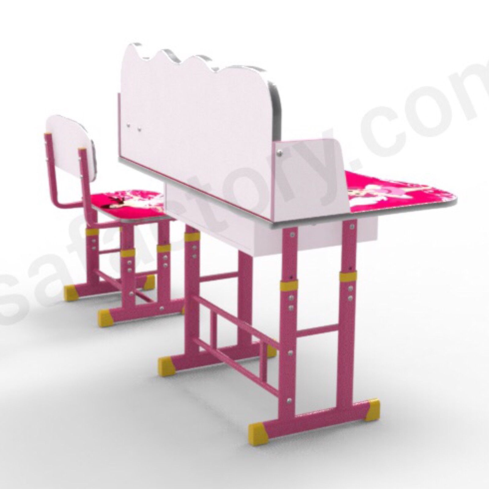 girls set childrens white chair kids gallery media guidecraft desk at swivel desks antique and pink