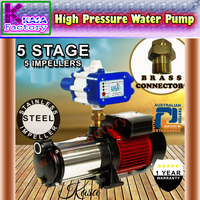 5 STAGE HIGH PRESSURE AUTO WATER PUMP FOR GARDEN IRRIGATION HOUSEHOLD RAIN TANK