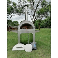 NEW EXTRA Large Outdoor Stainless Steel Portable Wood Fired PIZZA Oven BBQ