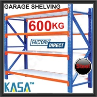 NEW 600KG STEEL GARAGE WAREHOUSE SHELVING Storage Racking Metal tyre rack stand!
