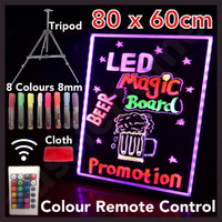 NEW 2015 80x60cm LED WRITING BOARD NEON SIGN Signage Fluorescent Light Remote!!!