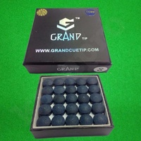 GENUINE GRAND SNOOKER CUE TIPS 10MM SOFT BOX OF 50