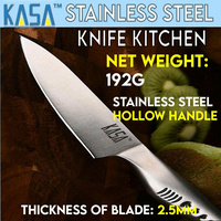 Kasa Kitchen Knife 8 Inch Damascus Pattern Chef's Knife Stainless Steel Handle