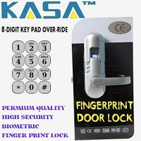 New 2020 Fingerprint / Biometric Door Lock with Keypad / Key Over-Ride