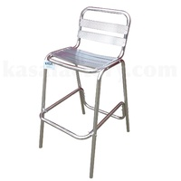 BAR CHAIR HIGH BACK COMMERCIAL ALUMINIUM RESTAURANT CAFE POOL OUTDOOR NEW SERIES