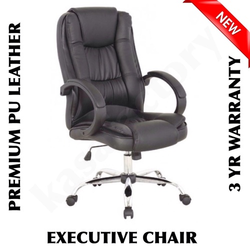 NEW BLACK HIGH BACK EXECUTIVE THICK PU LEATHER OFFICE COMPUTER CHAIR