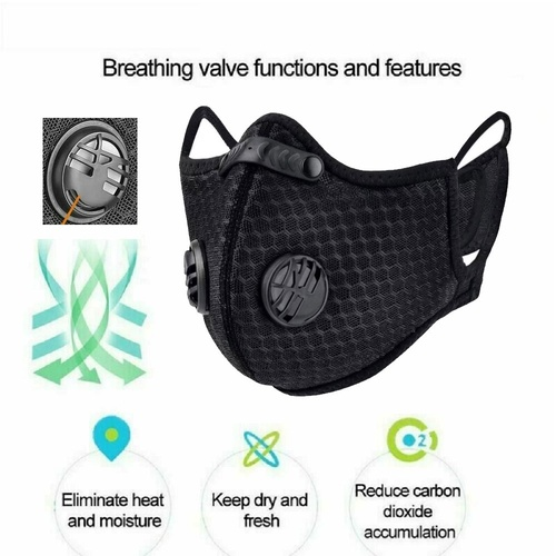 Dust FACE Mask Activated Double Carbon filter Anti Dust Allergy Protection